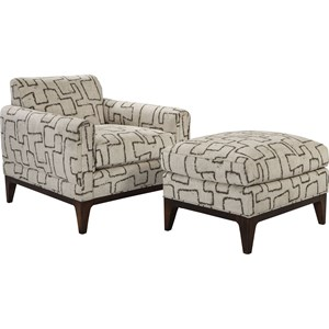 ED Ellen DeGeneres Crafted by Thomasville Ellen DeGeneres Romero Chair & Ottoman Set