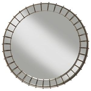 ED Ellen DeGeneres Crafted by Thomasville Ellen DeGeneres Hazen Round Metal Mirror