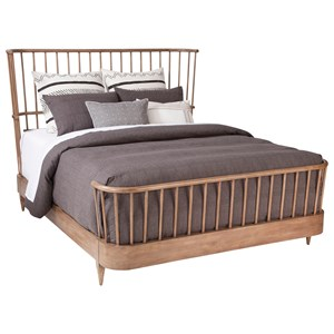 ED Ellen DeGeneres Crafted by Thomasville Ellen DeGeneres Cordell Spindle Bed, King 6/6 Complete