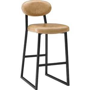 ED Ellen DeGeneres Crafted by Thomasville Ellen DeGeneres Alhambra Metal And Leather Barstool