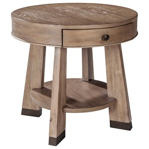 ED Ellen DeGeneres Crafted by Thomasville Ellen DeGeneres Franklin Round Drawer End Table