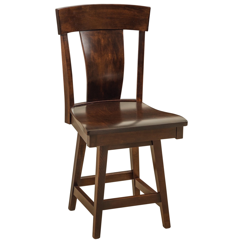 Swivel Bar Stool - Wood Seat