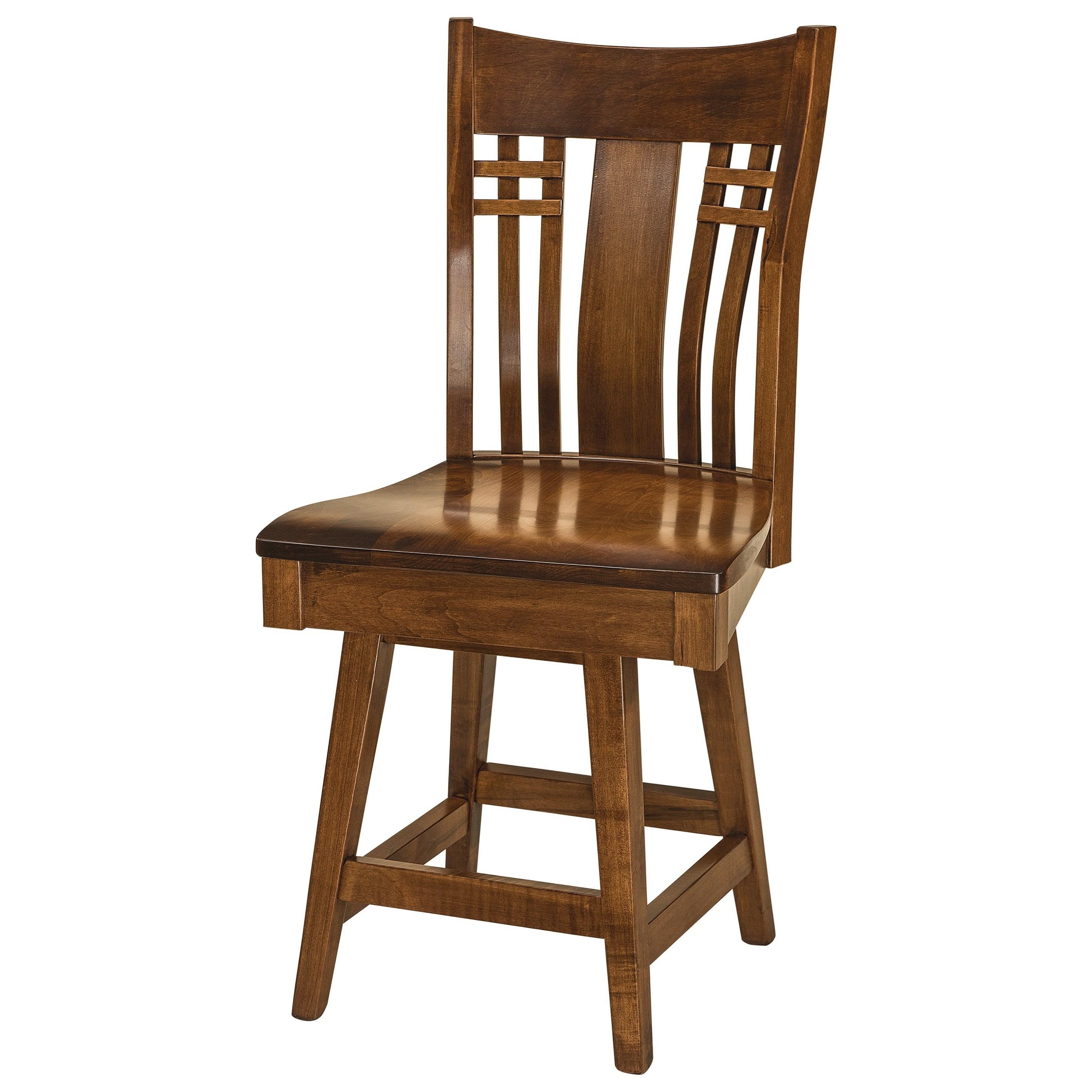 Swivel Counter Height Stool - Wood Seat