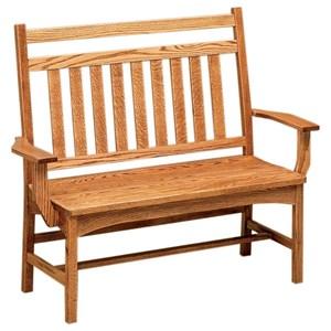 "F&N Woodworking Bradford 48"" Deacon Bench - Wood Seat"
