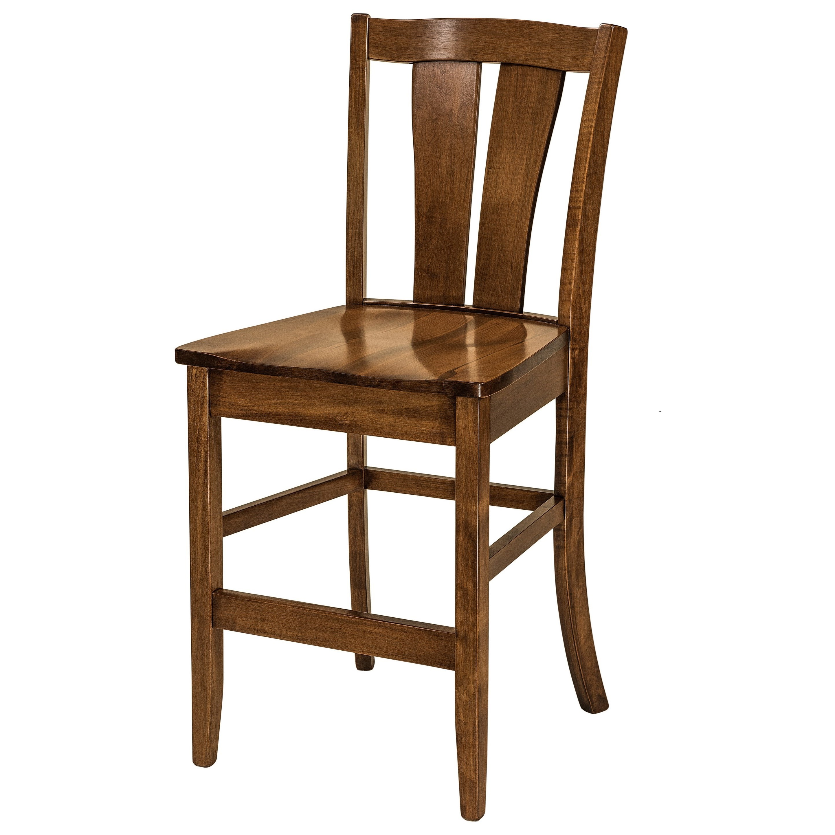 Brawley Stationary Bar Stool - Leather Seat by F&N Woodworking at Mueller Furniture