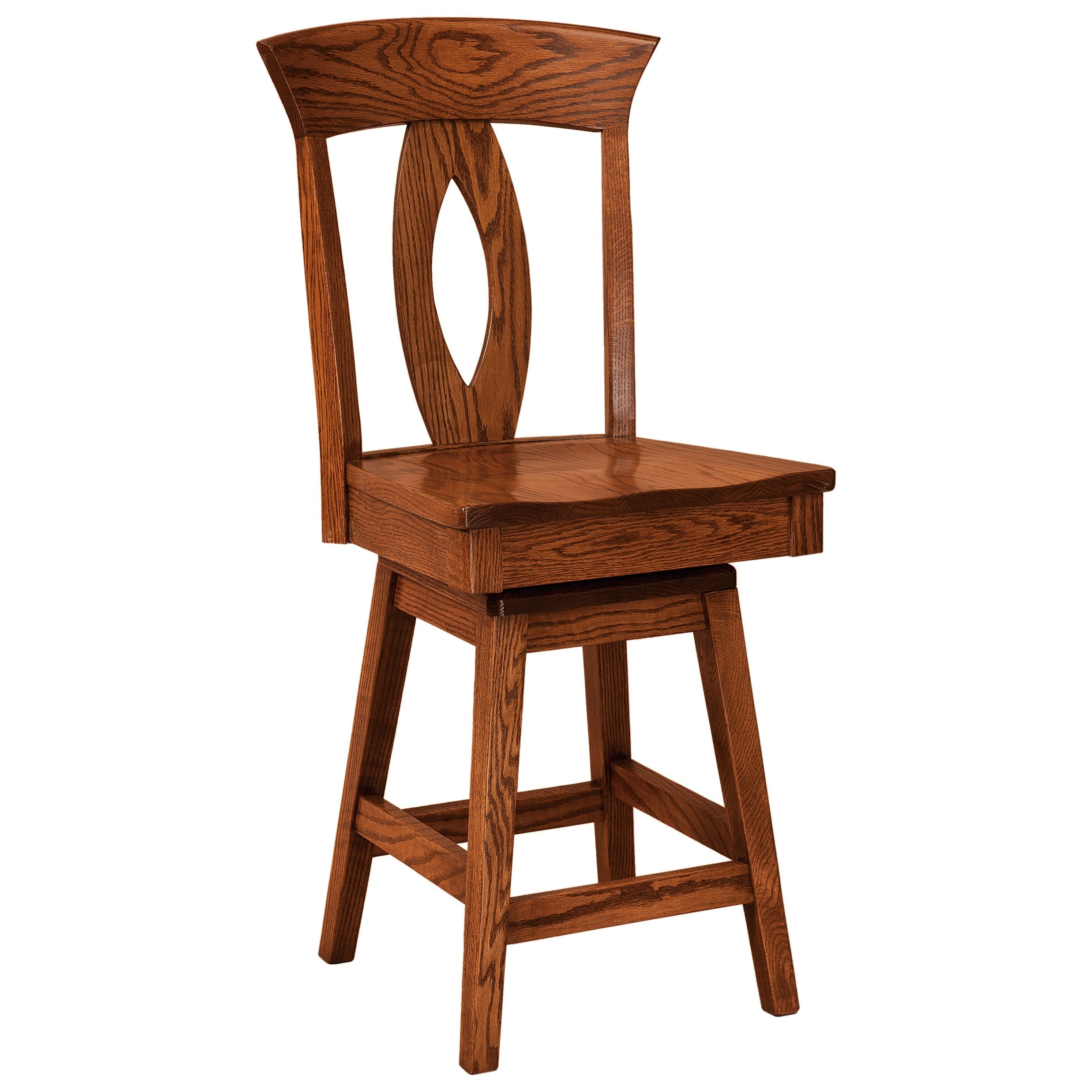 Brookfield Swivel Bar Stool - Leather Seat by F&N Woodworking at Mueller Furniture