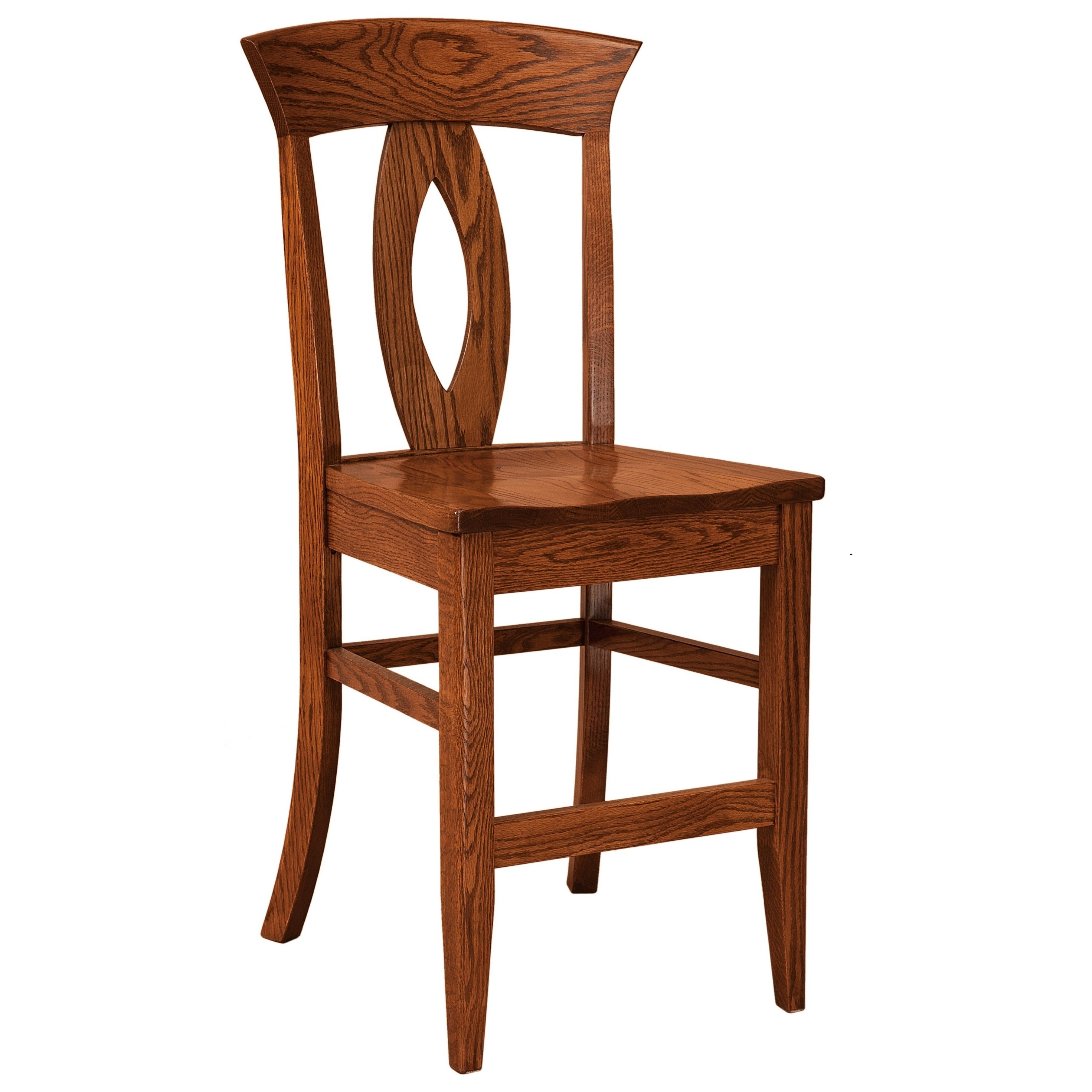Stationary Counter Height Stool - Leather Se