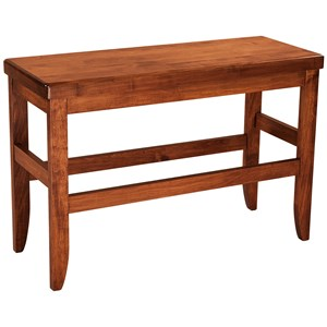 "F&N Woodworking Clifton Bench 24""h x 60""w - Leather Seat"