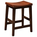 "F&N Woodworking Coby Bar Stool 24"" Height - Fabric Seat - Item Number: 14119"