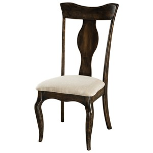 Fu0026N Woodworking Richland Side Chair   Leather Seat
