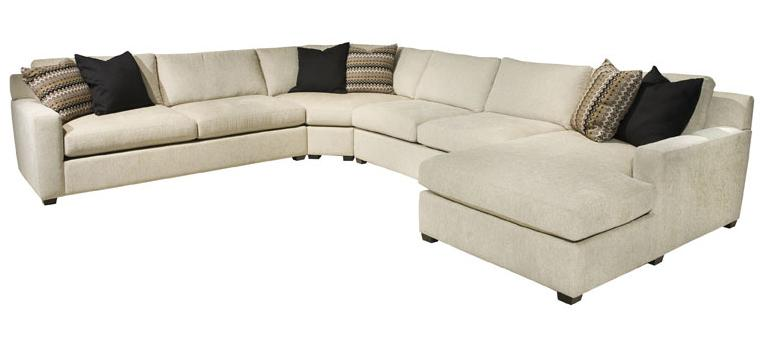 Ej Lauren Corinne Contemporary Sectional Sofa With Right Side Chaise Michael 39 S Furniture