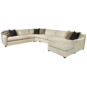 EJ Lauren Corinne  Sectional Sofa with Right Side Chaise