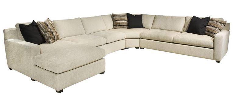EJ Lauren Corinne  Sectional Sofa with Left Side Chaise - Item Number: LHF Chaise+Armls Love+Wedge+RHF Apt