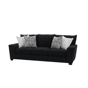 Upholstered Sofa with Accent Pillows