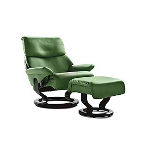 Stressless by Ekornes Stressless Recliners Dream Small Recliner and Ottoman