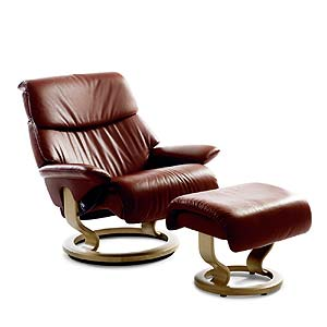 Stressless by Ekornes Stressless Recliners Dream Medium Recliner and Ottoman
