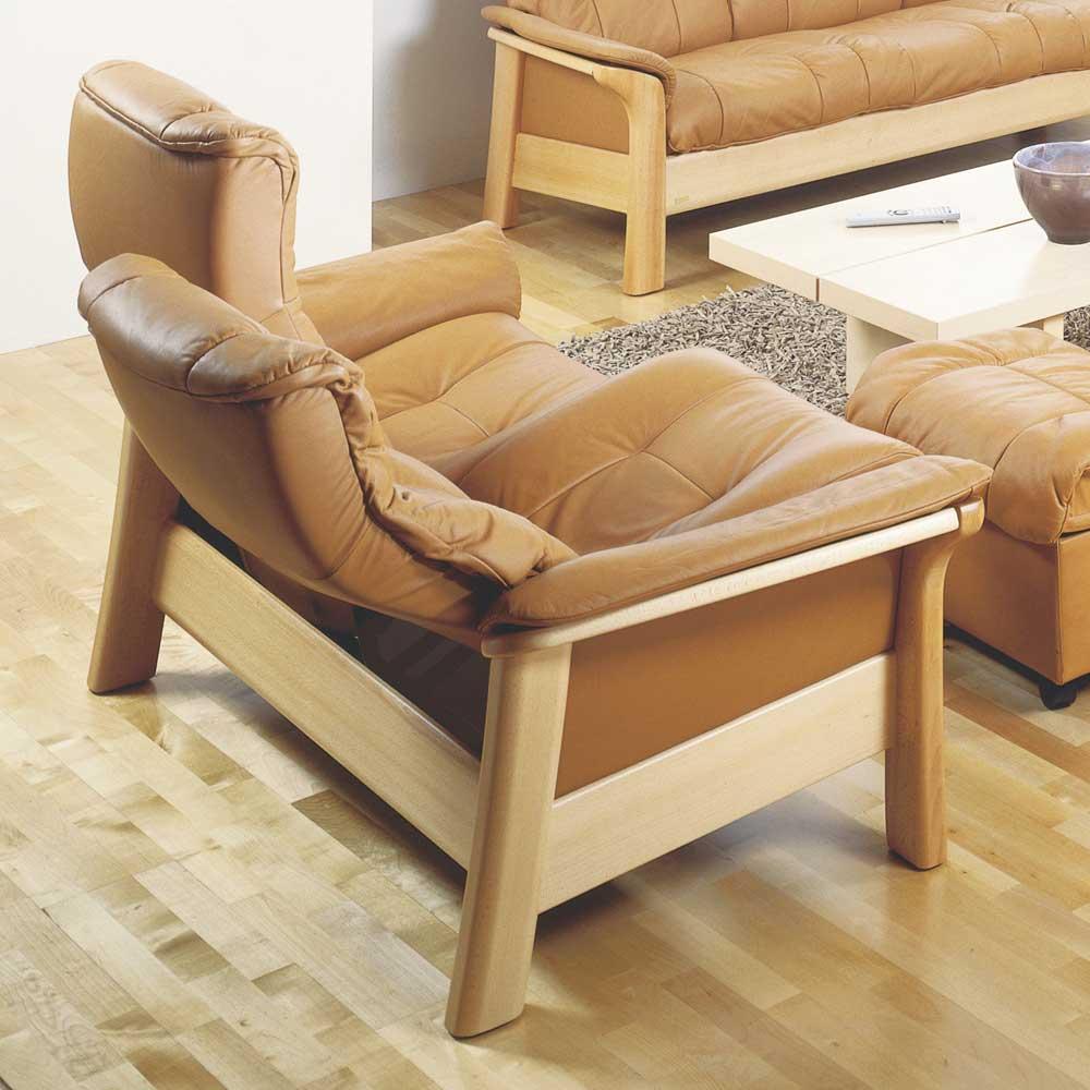 Stressless By Ekornes Stressless Windsor 1195020 Highback Reclining Leather 2 Seat Sofa Dunk