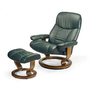 Stressless by Ekornes Stressless Recliners Consul Large Recliner and Ottoman
