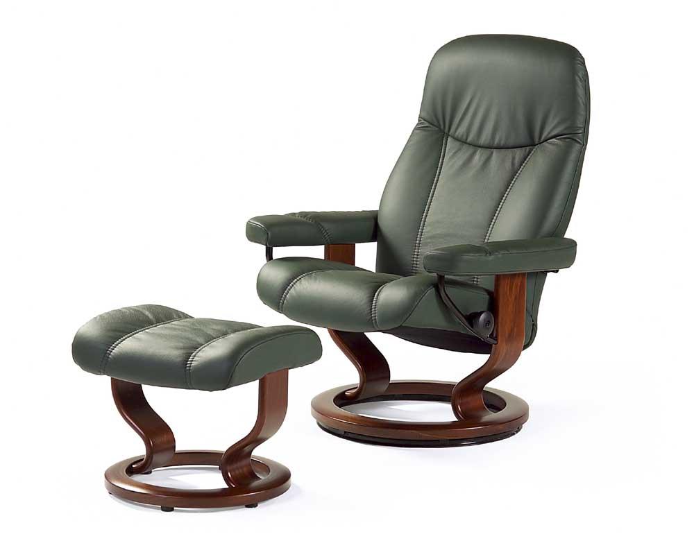 Stressless By Ekornes Stressless Recliners Consul Medium Reclining Chair And Ottoman John V