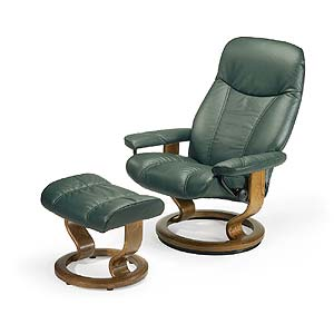 Stressless by Ekornes Stressless Recliners Consul Recliner and Ottoman