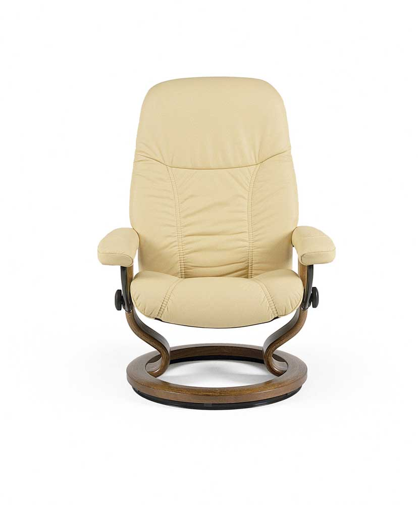 Small Chair With Ottoman: Stressless Consul 1145015 Small Reclining Chair & Ottoman