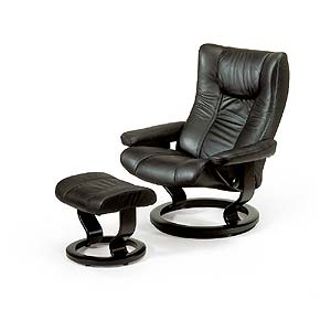 Stressless by Ekornes Stressless Recliners Eagle Recliner and Ottoman
