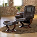 Stressless by Ekornes Stressless Recliners Mayfair Large Reclining Chair and Ottoman