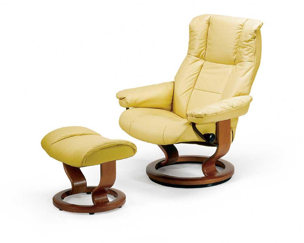 Stressless By Ekornes Stressless Recliners Mayfair Medium Reclining Chair And Ottoman Dunk
