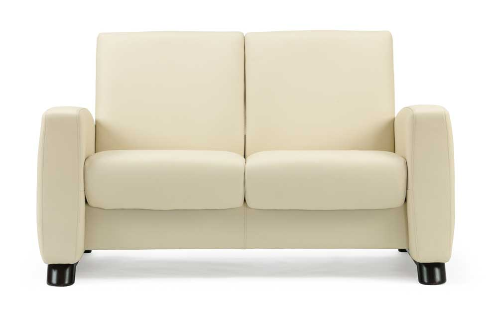 Stressless By Ekornes Stressless Arion Low Back Recling 2 Seat Leather Loveseat Hudson 39 S