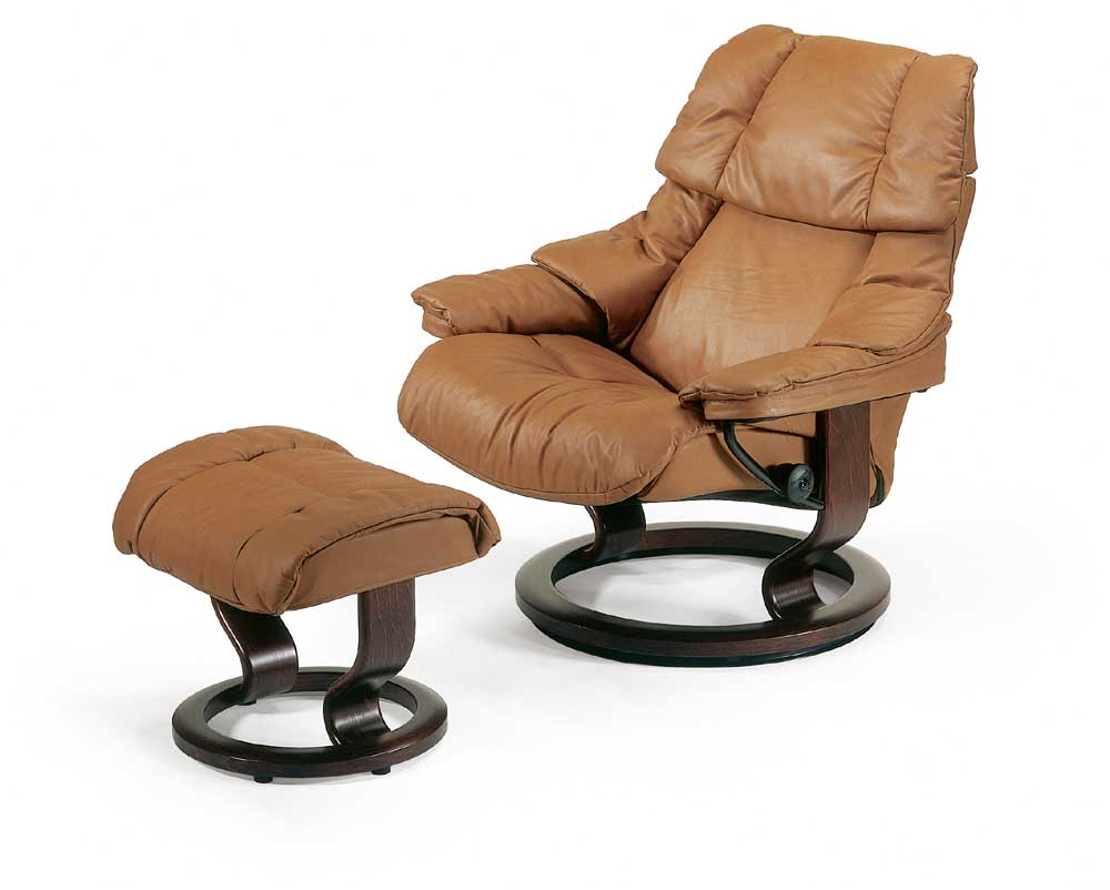 Stressless By Ekornes Stressless Recliners Reno Large Reclining Chair And Ottoman Dunk