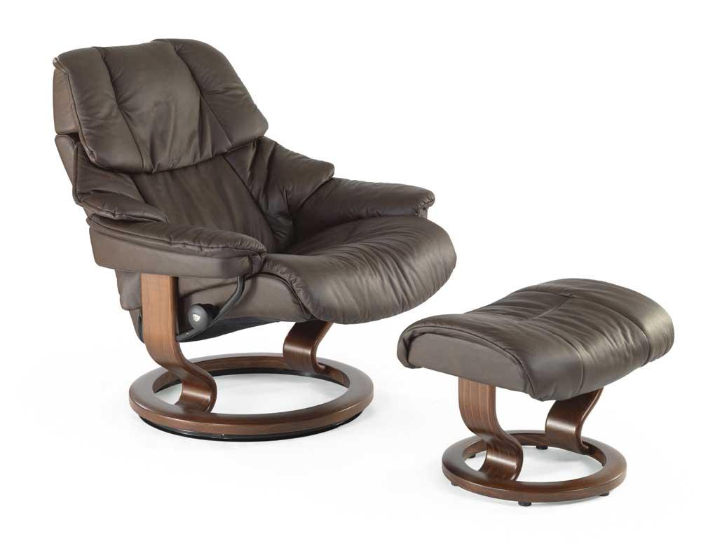 Stressless By Ekornes Stressless Recliners Reno Medium Reclining Chair And Ottoman Fashion