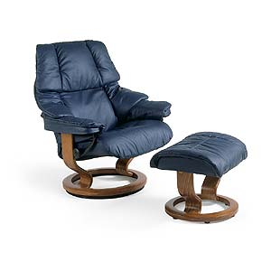 Stressless by Ekornes Stressless Recliners Reno Medium Recliner and Ottoman