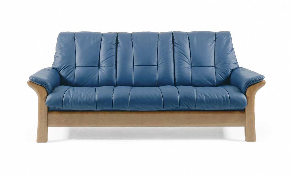 Stressless By Ekornes Stressless Windsor Lowback Reclining Leather 3 Seat Sofa Hudson 39 S