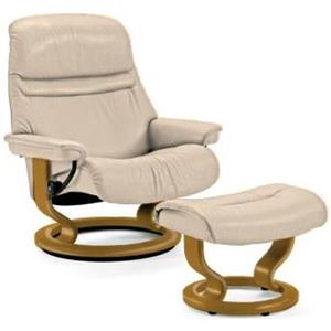 Stressless by Ekornes Sunrise Small Stressless Chair & Ottoman