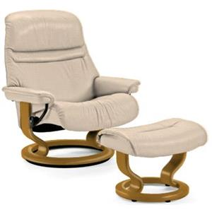 Stressless by Ekornes Sunrise Medium Stressless Chair & Ottoman