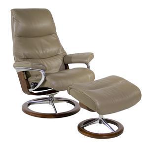 Stressless by Ekornes View Medium Stressless Chair & Ottoman