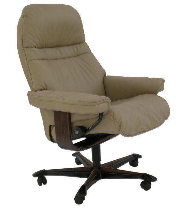Sunrise Medium Stressless Office Chair by Stressless by Ekornes at HomeWorld Furniture