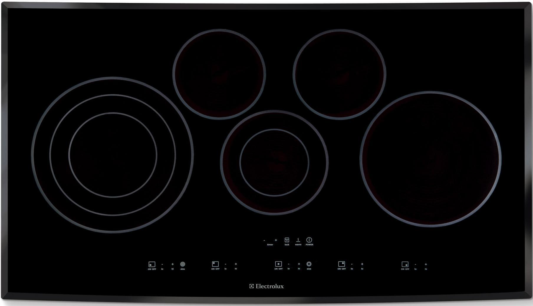 "Electrolux Electric Cooktops 36"" Drop-In Electric Cooktop - Item Number: EI36EC45KB"