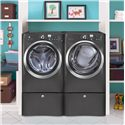 Electrolux Electric Dryers 8.0 Cu. Ft. Front-Load Electric Dryer with Perfect Steam™ - Shown in Room Setting with Matching Washer