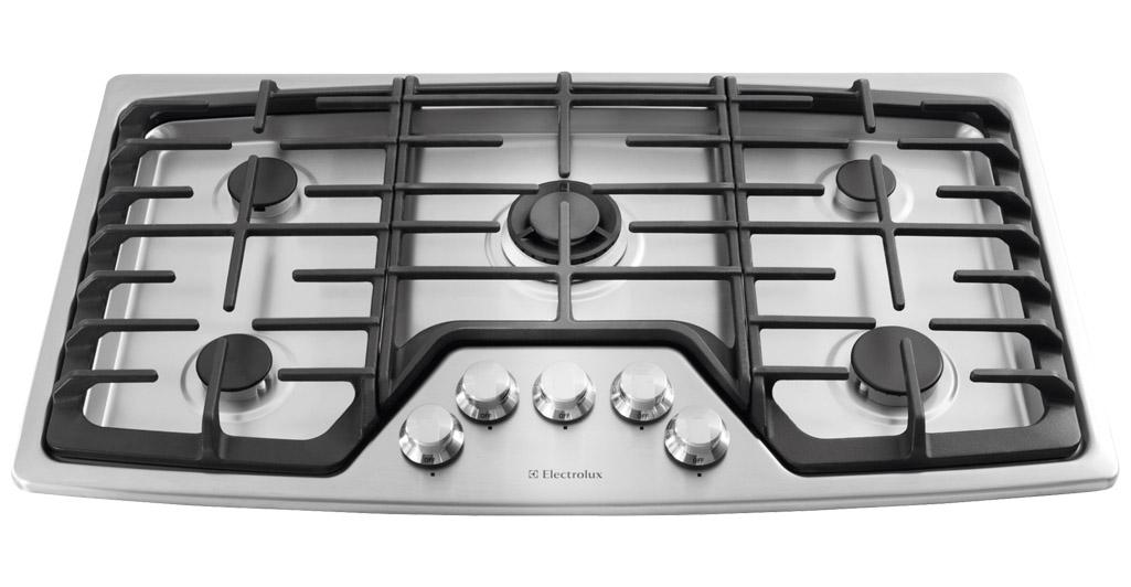 "Electrolux Gas Cooktops 36"" Gas Cooktop - Item Number: EW36GC55PS"