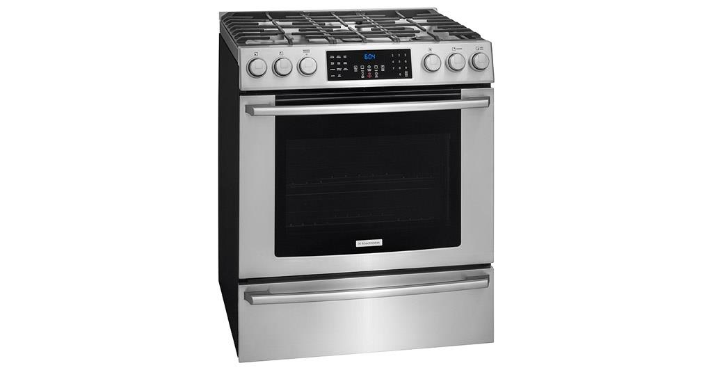"Electrolux Gas Range 4.5 cu. ft 30"" Freestanding Gas Range - Item Number: EI30GF45QS"