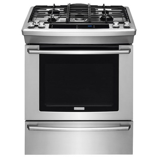 """Electrolux Gas Range 30"""" Gas Built-In Range with Wave-Touch® Cont - Item Number: EW30GS80RS"""