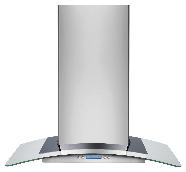 "Electrolux Ventilation Hoods 30"" Designer Glass Canopy Island-Mount Hood - Item Number: RH30WC60GS"