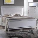 Elements International  Miami Queen Upholstered Bed - Item Number: MM100QB