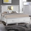 Elements International  Miami California King Storage Bed - Item Number: MM150CKB