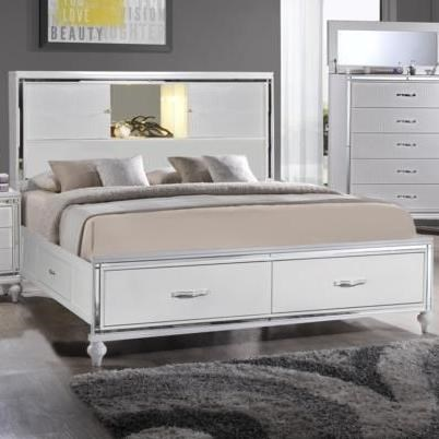 Elements International  Miami King Storage Bed - Item Number: MM150KB