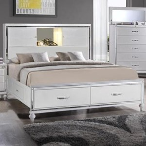 Elements International  Miami King Storage Bed
