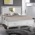 Elements International  Miami Queen Storage Bed - Item Number: MM150QB