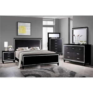 Elements International  Miami King Bedroom Group