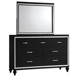 Elements International  Miami Dresser and Mirror Set